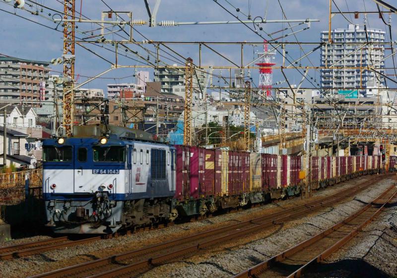 EF64-1000 イエローパラダイストレイン 3075レ 平塚 大磯 伊豆箱根鉄道 撮影地 1300系