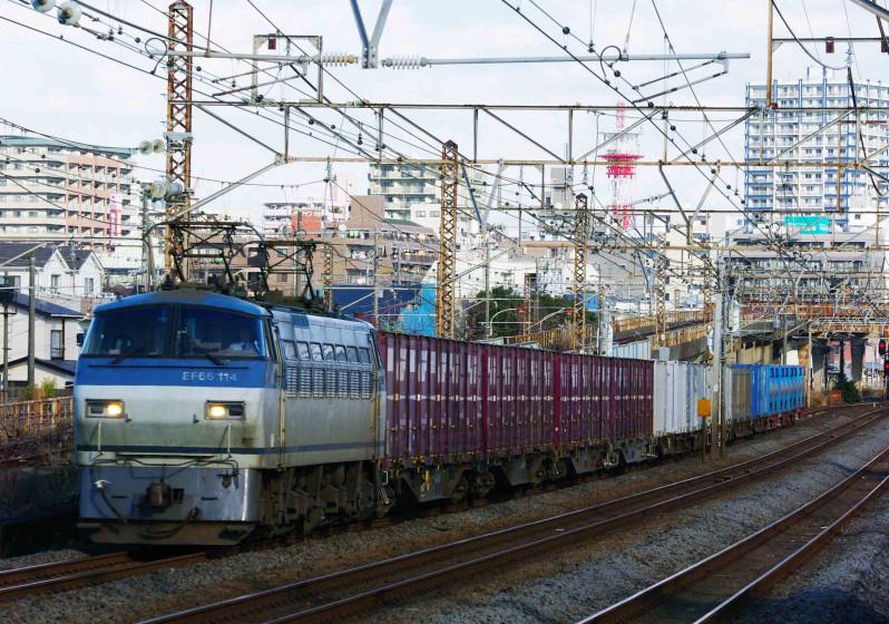 EF66-100 イエローパラダイストレイン 5095レ 平塚 大磯 伊豆箱根鉄道 撮影地 1300系