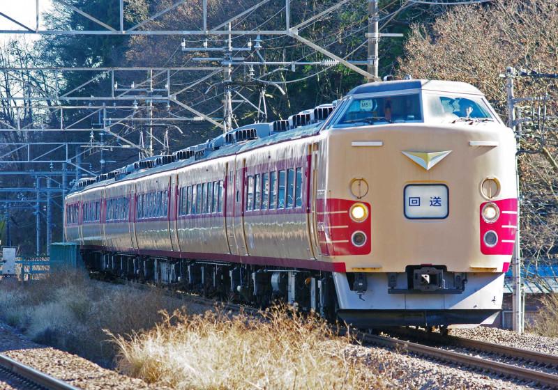 189系 豊田車 M51編成 相模湖 高尾 小名路踏切 撮影地 中央線 国鉄色