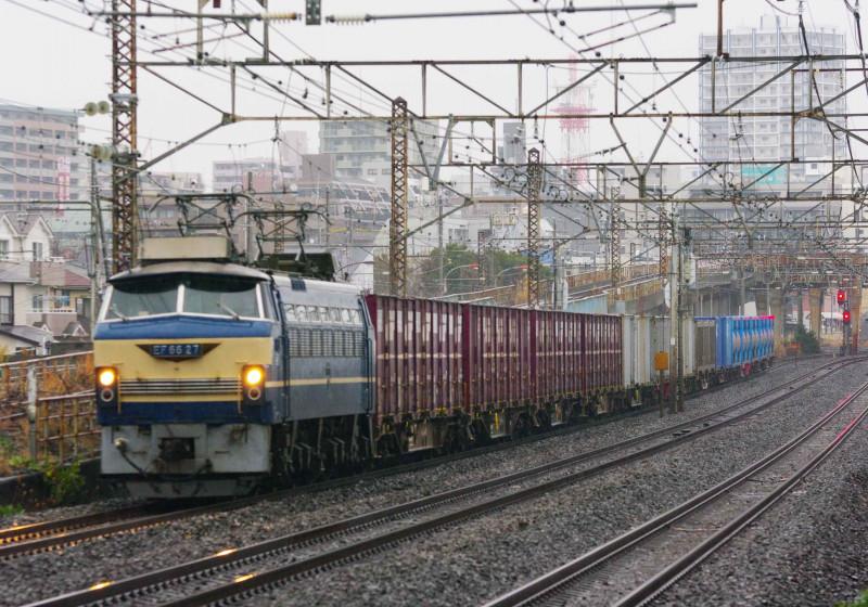 EF66-0 ゼロロク EF66 27号機 平塚 大磯 貨物列車 撮影地 東海道線 5095ㇾ