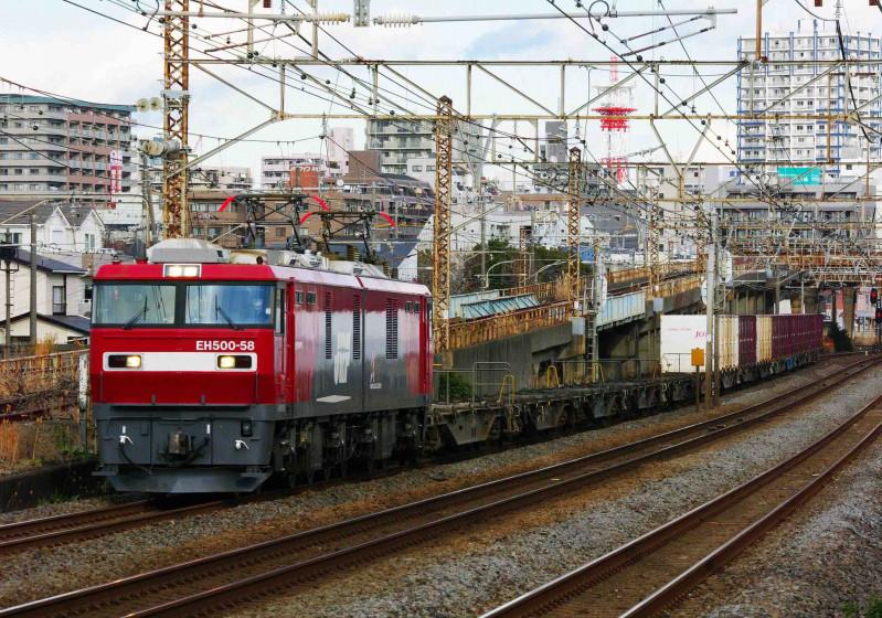 2079ㇾ EH500 金太郎 平塚 大磯 東海道線 撮影地 究極の583系 貨物列車