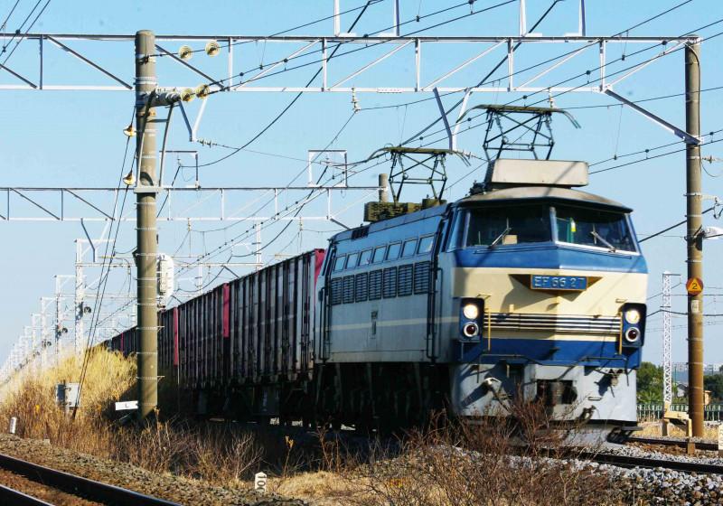 東海道線 馬入踏切 茅ヶ崎 平塚 撮影地 EF66 EF66-0 27号機 ニーナ 5095ㇾ