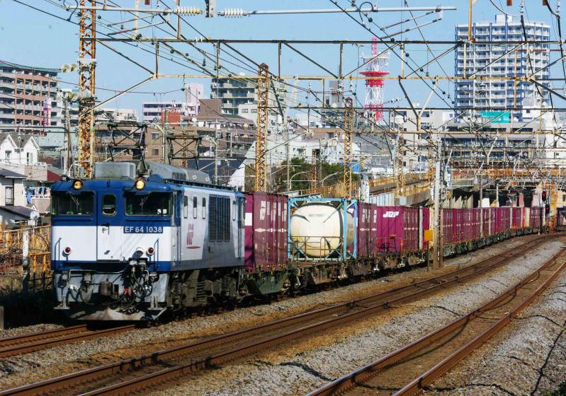 3075ㇾ EF64-1000 平塚 大磯 東海道線 貨物列車 撮影地 究極の583系