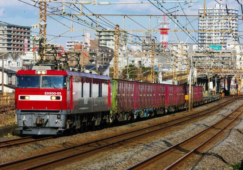 EH500 金太郎 2079ㇾ 平塚 大磯 東海道線 貨物列車 撮影地 究極の583系