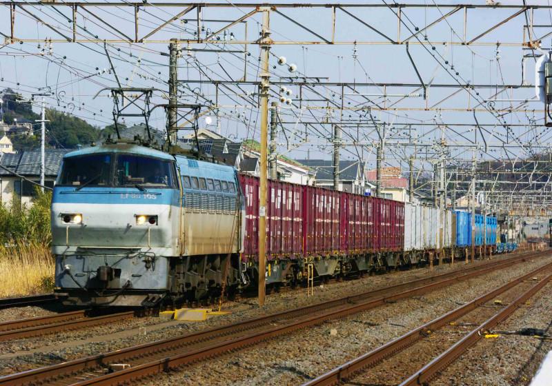 5095ㇾ 撮影地 EF66-100 サメ 東海道線 大磯 二宮 貨物列車 究極の583系