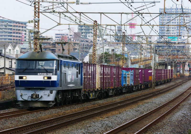 東海道線 平塚 大磯 貨物列車 究極の583系 0463チャレンジセンター 撮影地