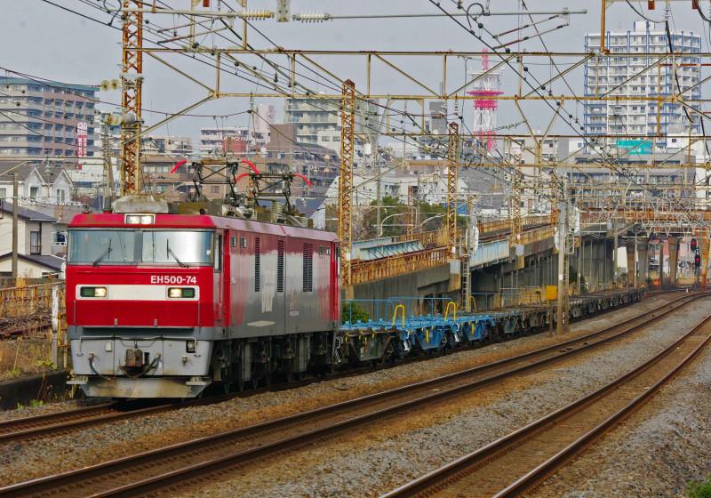 2079ㇾ EH500 金太郎 平塚 大磯 東海道線 究極の583系 貨物列車 撮影地
