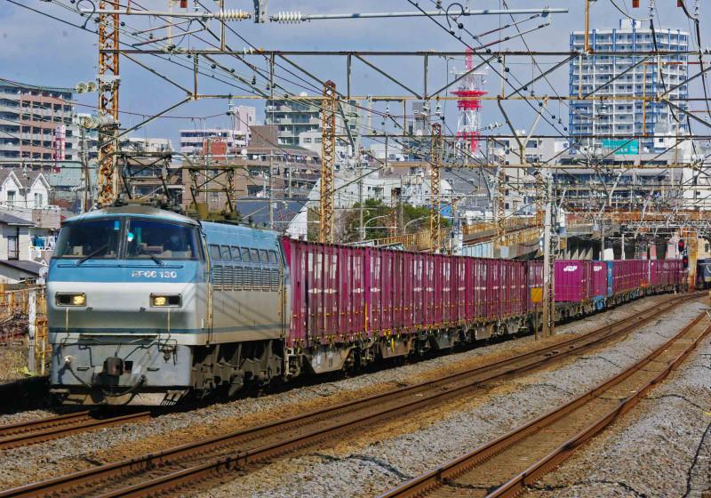 EF66-100 サメ 平塚 大磯 撮影地 貨物列車 究極の583系 0463チャレンジセンター