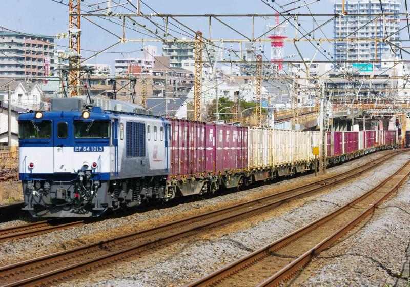 EF64-1000 3075ㇾ 平塚 大磯 0463チャレンジセンター 貨物列車 撮影地 東海道線