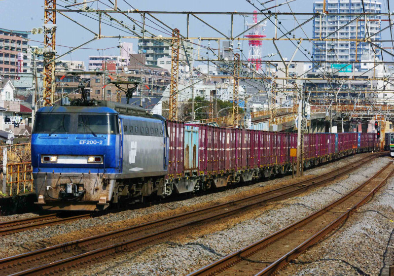 EF200 5075ㇾ 貨物列車 山陽本線 東海道線 平塚 大磯 0463チャレンジセンター 胡散臭い 究極の583系
