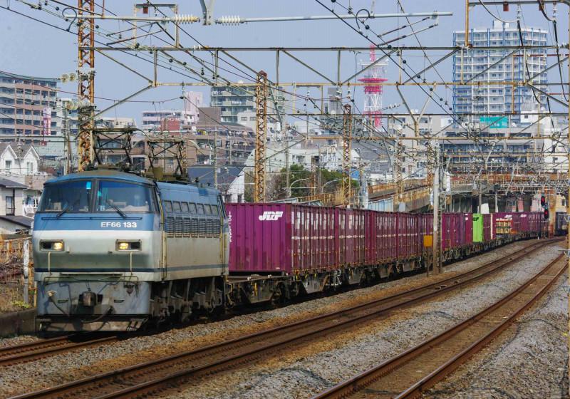 東海道線 撮影地 平塚 大磯 EF66-100  5075ㇾ 撮影地 究極の583系 貨物列車