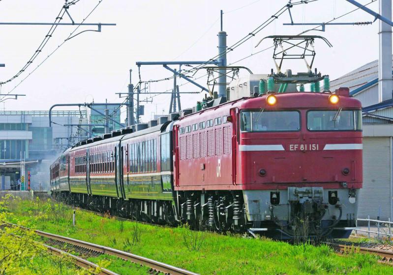 SLばんえつ物語号 12系客車 越後石山 亀田 信越本線 撮影地 C57-180