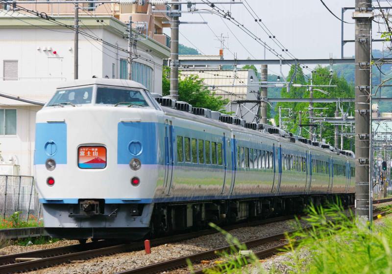 189系 189系豊田車M50編成 西八王子 高尾 中央線 撮影地 ホリデー快速富士山1号 究極の583系