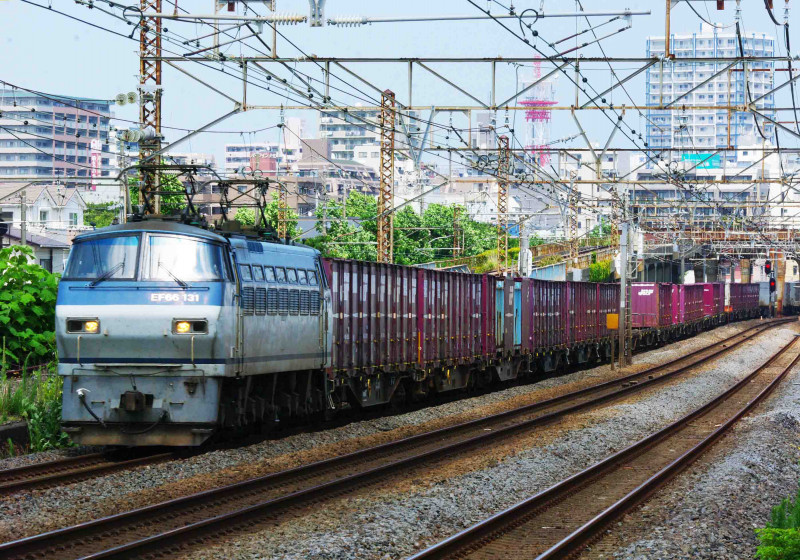 東海道線 平塚 大磯 撮影地 貨物列車 EF66-100 5075ㇾ 伊豆急2100系 THE・ROYAL EXPRESS 二宮 究極の583系