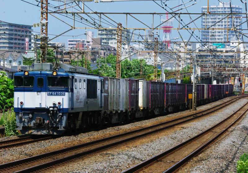 東海道線 平塚 大磯 撮影地 貨物列車 EF64-1000 3075ㇾ 伊豆急2100系 THE・ROYAL EXPRESS 二宮 究極の583系