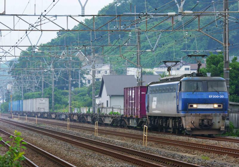 EF200 5094ㇾ 貨物列車 大磯 二宮 撮影地 究極の583系 東海道線