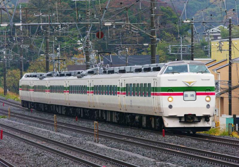 189系 豊田車 M52編成 大磯 二宮 究極の583系 東海道線 撮影地 ホリデー快速あたみ号