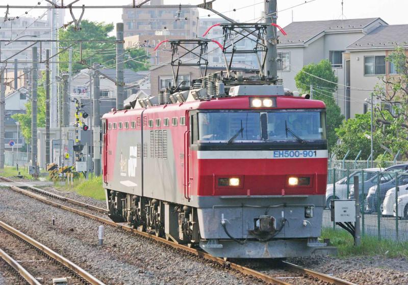 EH500 金太郎  クマイチ 試作機 EH500-901 川崎新町駅 撮影地 貨物列車