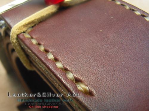 シルバーバックル 手縫い オーダーメイド