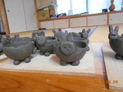 兎の植木鉢