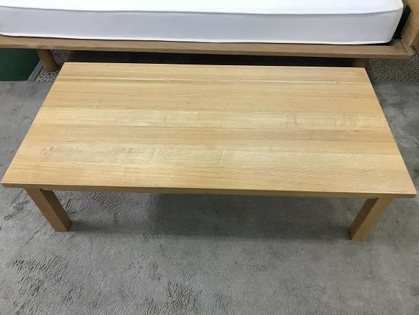 無印良品無垢材ローテーブル (1)