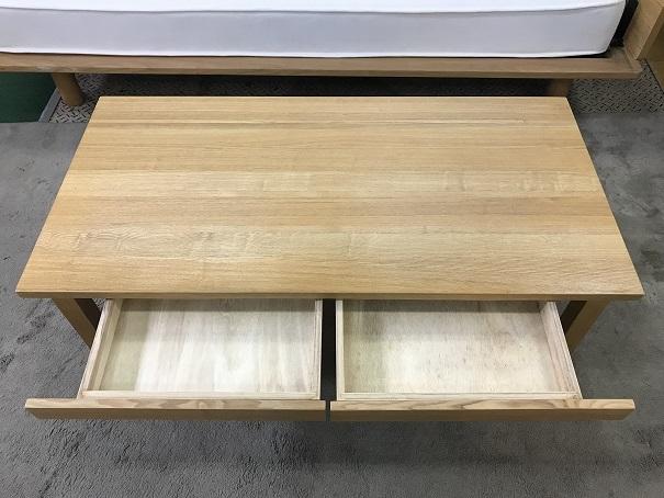 無印良品無垢材ローテーブル (2)