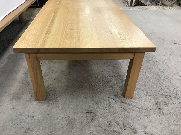 無印良品無垢材ローテーブル (3)
