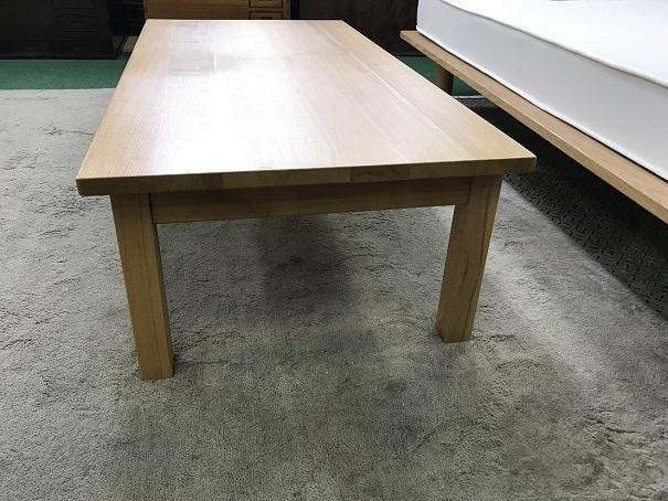 無印良品無垢材ローテーブル (5)