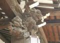 木彫りの獅子