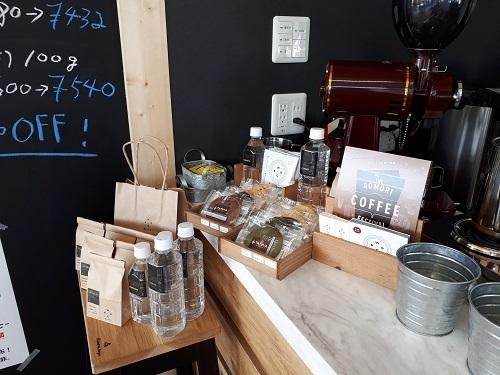 水とコーヒー カウンター商品