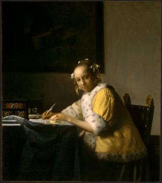 フェルメール、手紙を書く女