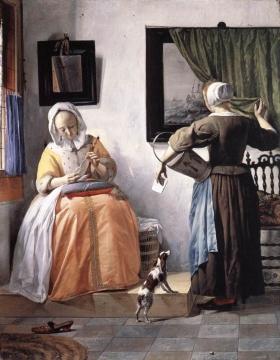 手紙を読む女