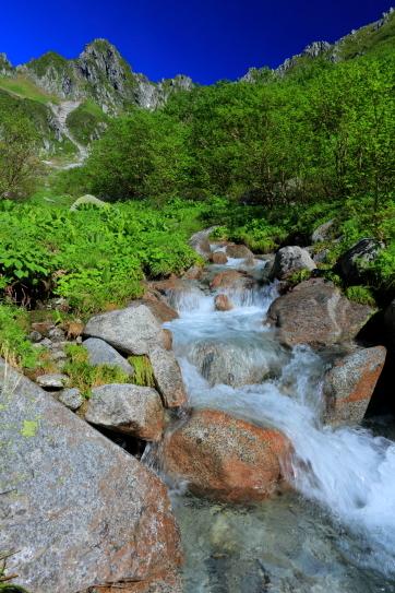 中御所源流と宝剣岳