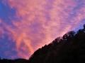 夕焼け波状雲