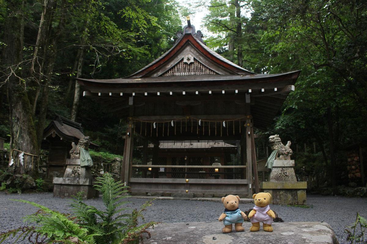 貴船神社奥宮で 180830