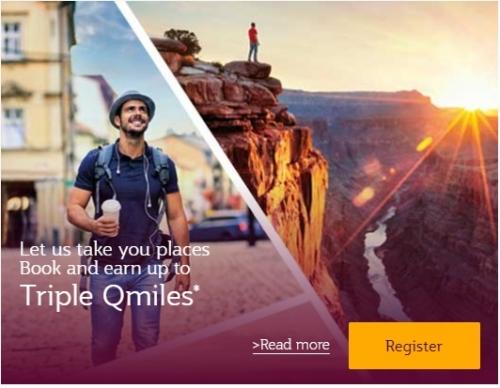 カタール航空 プリビレッジ・クラブでトリプルQマイルズキャンペーン