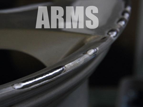 削れたホイールのリムをアルミ溶接で直す