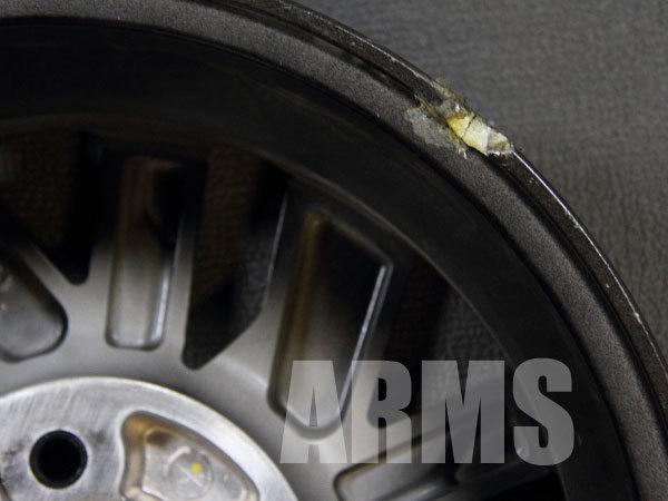 裏側リムの欠け、クラックを修理する