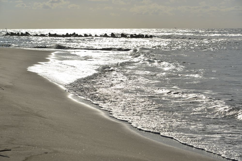 秋晴れの砂浜-2