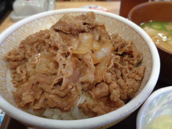 10/11 築港すき家・牛丼並カレー豚汁たまご付