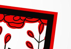 イラスト 年賀 萩に猪の花札