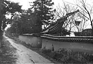 西の京の道土塀