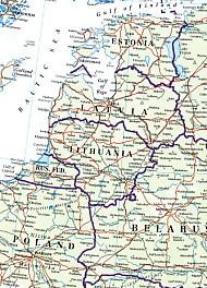 バルト三国地図
