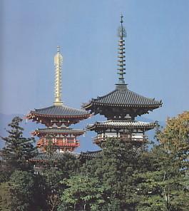 薬師寺東塔西塔並立