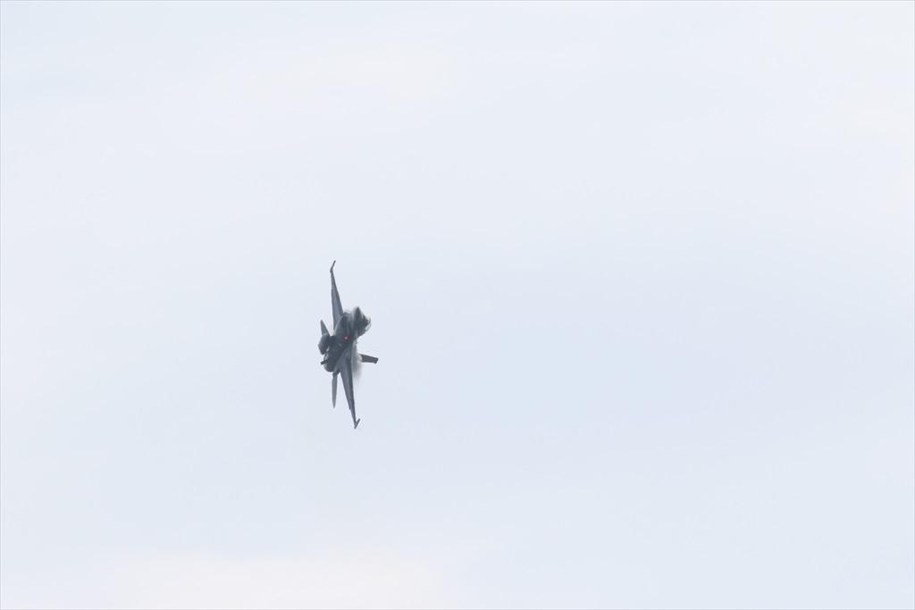 機体の左を下にしての飛行_12
