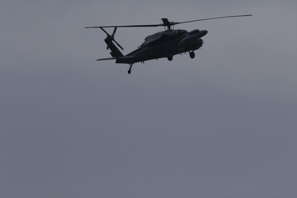 救難ヘリコプターUH-60Jの出動_2