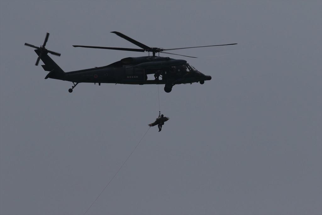 救難ヘリコプターUH-60Jの出動_20