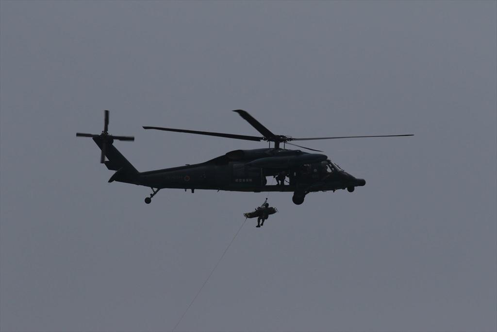 救難ヘリコプターUH-60Jの出動_21