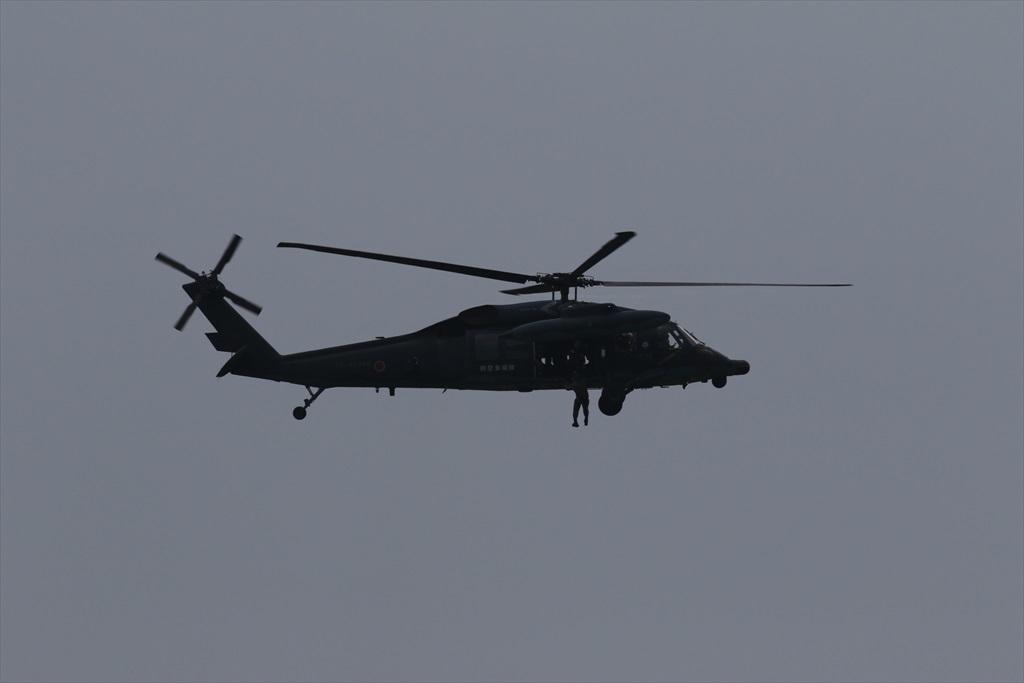 救難ヘリコプターUH-60Jの出動_33