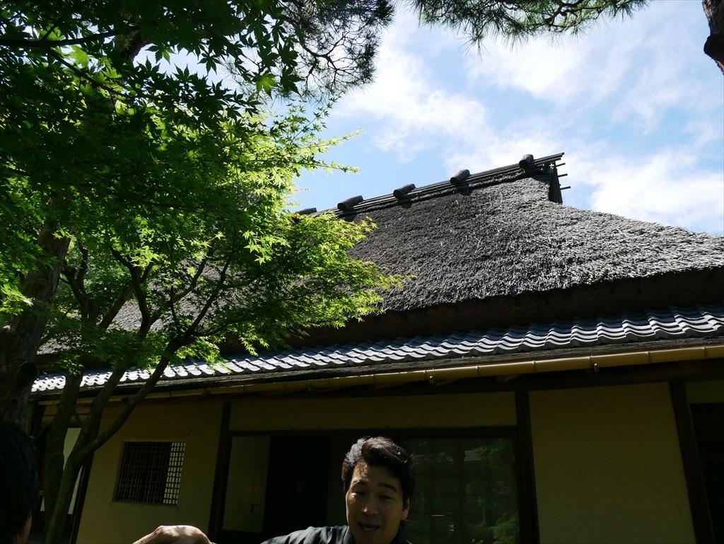 ごく普通の茅葺き屋根に見えるが